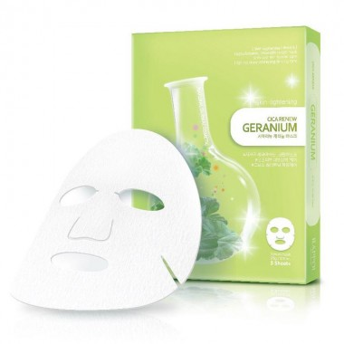 Тканевая маска для лица с экстрактом герани, выравнивающая тон кожи RAPPOL CICA RENEW GERANIUM MASK